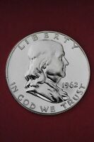 1962 P PROOF BEN FRANKLIN HALF DOLLAR 1.99 FLAT RATE SHIP EXACT COIN PICTURED 05