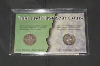 LAST AND FIRST YEAR COINS STANDING LIBERTY & WASHINGTON QUARTER 1930 1932