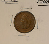 1908 S INDIAN HEAD CENT 1C FINE
