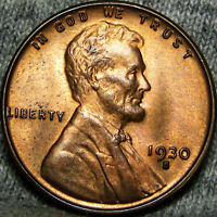 1930-S LINCOLN CENT WHEAT CENT ---- STUNNING  ---- B702