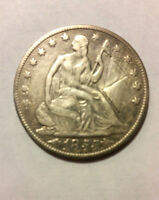 1855 O SEATED LIBERTY SILVER HALF DOLLAR. SUPERB DETAILS.