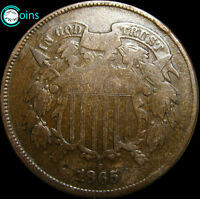 1865 TWO CENT PIECE 2CP TYPE COIN ----- I REVIEW ALL OFFERS  ----- V045