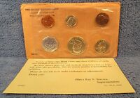 1960 US MINT PROOF SET IN ORIGINAL PACKAGING WITH SILVER FRANKLIN HALF.