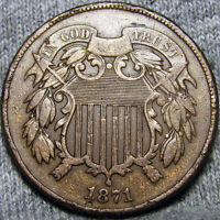 1871 TWO CENT PIECE TYPE COIN 2CP EDGE DINGS   -----   ----- P684