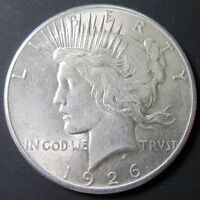 1926 PEACE SILVER DOLLAR VAM-2 TOP 50 VARIETY BU UNCIRCULATED COIN  DOUBLED