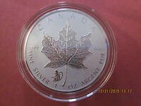 2016 1 OZ .9999 REVERSE PROOF SILVER CANADIAN MAPLE LEAF COIN MONKEY SHIP NOW