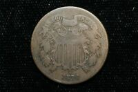 1870 TWO CENT PIECE COIN 2616