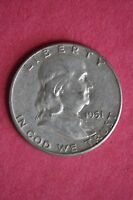 1951 P BEN FRANKLIN HALF DOLLAR HALVE BETTER CONDITION FLAT RATE SHIPPING 019
