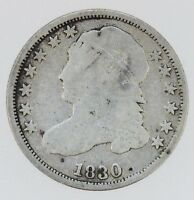 1830 10C CAPPED BUST DIME   B3607
