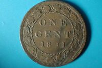1891  KEY DATE    QUEEN VICTORIA LARGE 1 CENT LOT CANADA