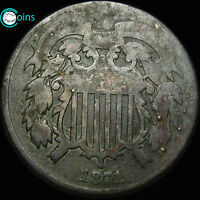 1871 SHIELD TWO CENT PIECE 2CP LOW MINTAGE  A603