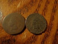 1864 & 1865 INDIAN HEAD CENT   2 COIN LOT   GROUP 1