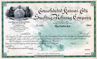 CONSOLIDATED KANSAS CITY SMELTING & REFINING EARLY UNITED WE STAND IMAGE 1880'S