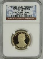 2014 S WARREN HARDING PROOF PRESIDENTIAL DOLLAR NGC PF70 ULTRA CAMEO