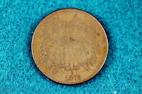 ESTATE FIND 1872 TWO CENT PIECE ABA2