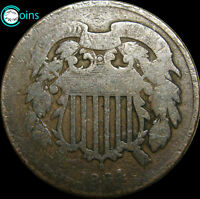 1864 TWO CENT PIECE 2CP TYPE COIN -----   ----- V043