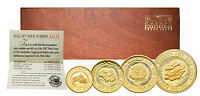 AUSTRALIA 1987 NUGGET 4 COIN GOLD PROOF SET