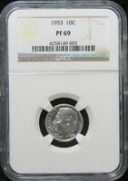 1953 PROOF ROOSEVELT DIME NGC PF69  POP 28/6