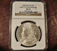 1885 MORGAN MINT STATE 64 NGC
