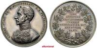 AUSTRIA SILVER MEDAL REVOLUTION 1848 1849 FIELD MARSHAL PRINCE ALFRED AUNC 39MM