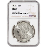 1879-S US MORGAN SILVER DOLLAR $1 - NGC MINT STATE 65
