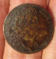 FINE FRENCH LOUIS XIV 1600S JETON ROYALE TOKEN FROM COMMODORE'S ESTATE OF 400 PC