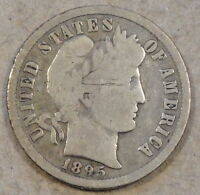 1895 O BARBER DIME FULL RIM G SOME OLD LIGHT SCRATCHES