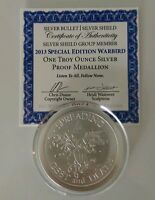 WARBIRD MEMBER'S ONLY BU/PROOF 1776 MADE SILVER SHIELD GROUP 1OZ .999 SBSS SSG