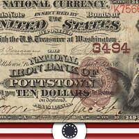 POTTSTOWN PA 1882 $10 BROWN BACK NATIONAL CURRENCY MONTGOMERY  COUNTY   1784