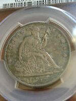 1855 O SEATED HALF PCGS AU50 NICE ORIGINAL SURFACES