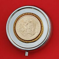 US 2009 NATIVE AMERICAN $1 UNCIRCULATED COIN SILVER PLATED PILL BOX NEW