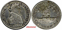 BOLIVIA SILVER 1830 PTS JL SOL EF AU CONDITION BETTER TYPE  KM 94A