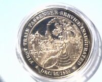 1830 FRANKLIN MINT HISTORY OF THE UNITED STATES PROOF BRONZE MEDAL  35G   45MM
