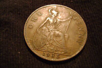 1935  GREAT BRITAIN GEORGE V LARGE PENNY