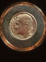1980 D ROOSEVELT DIME BU UNC UNCIRCULATED FROM MINT SET IN AIR TITE HOLDER