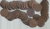 1953-D F-EXTRA FINE  SOLID DATE LINCOLN WHEAT CENT ROLL FROM FABULOUS 50'S