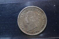 1887 CANADA. 5 CENTS. REPUNCHED 7. ICCS GRADED VF 20 XXJ110. LAMINATION ERROR.