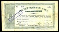 1900 SOUTH AFRICA 5 POUNDS ANGLO  BOER WAR TIME INTEREST BEARING NOTE KP 55A
