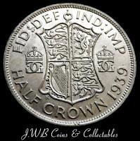 1939 GEORGE VI .500 SILVER HALF CROWN COIN   GREAT BRITAIN.