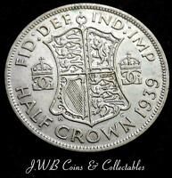 1939 GEORGE VI .500 SILVER HALF CROWN COIN   GREAT BRITAIN