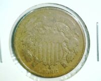 1868 2 CENT COIN ABOUT GOOD CONDITION
