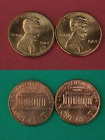 1984 P & D LINCOLN MEMORIAL CENTS BRILLIANT UNCIRCULATED FLAT RATE SHIPPING