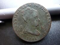 1846 ESPANA ISABEL SPAIN COIN