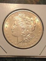 1887 S MORGAN SILVER DOLLAR BU SHINY MIRROR PROOF LIKE UNCIRCULATED