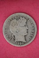 1902 P BARBER DIME LOW GRADE/PROBLEM EXACT COIN PICTURED FLAT RATE SHIPPING 084