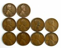 LOT OF 10 1925 D 1C LINCOLN WHEAT CENT PENNIES F/F W/MINOR BLEMISHES 62801