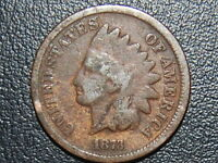 1873 INDIAN HEAD CENT SEMI KEY  448