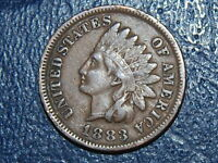 1883 1C BN INDIAN CENT NICE COIN  2258