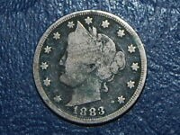 1883 5C WITH CENTS LIBERTY NICKEL  J 709
