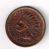 GEM BU1899 INDIAN HEAD CENT WITH NICE TONING.  SEE THE SCANS.